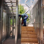 15 - Обшивка лестницы ЛСТК